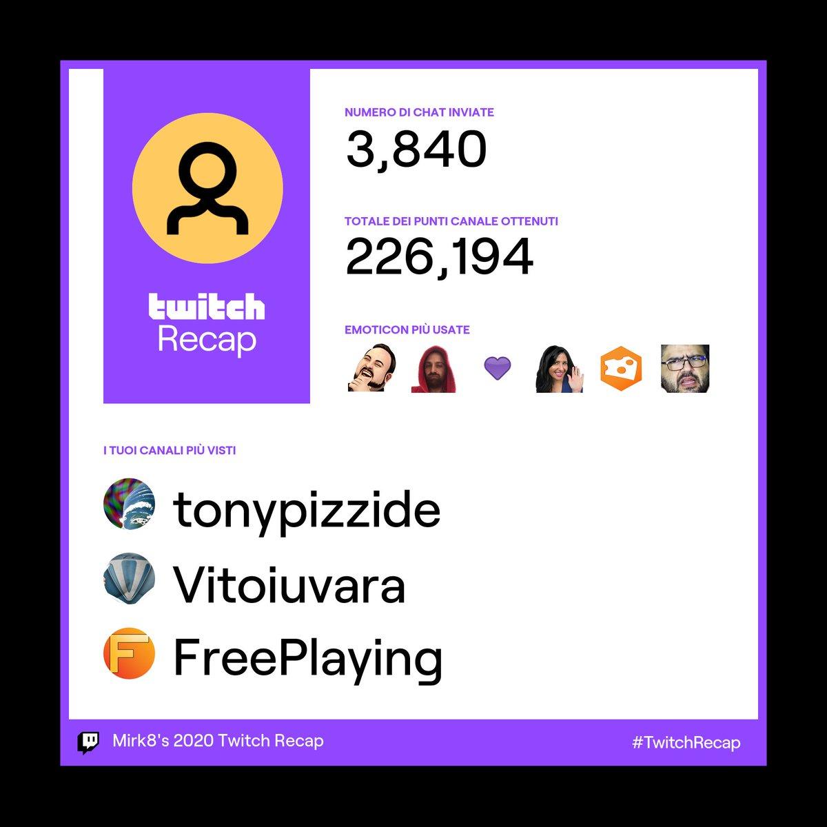 💜 @antoniopizzo  💜 @Vitoiuvara  💜 @FPPodcast    #TwitchRecap