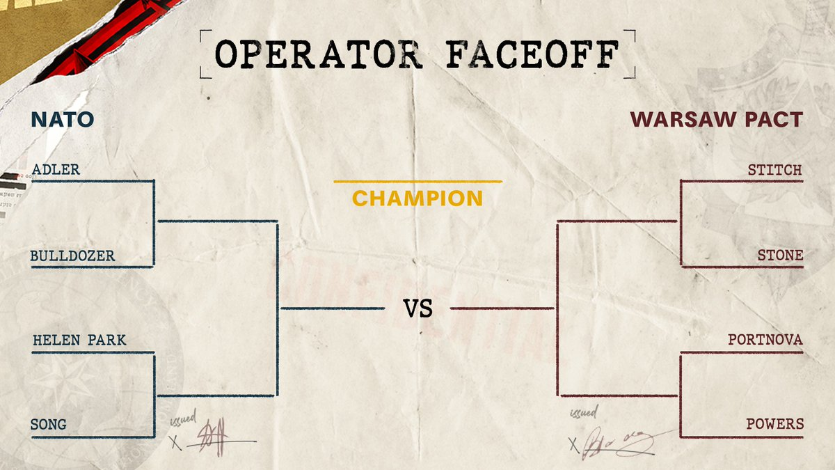 8 operators enter. 1 will leave.  Head to our Instagram story to vote in the first round of our #BlackOpsColdWar Operator Face-off.