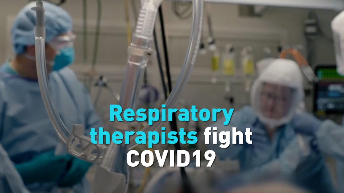 Replying to @cgtnamerica: An important part of the ICU, respiratory therapists have been on the frontline to fight COVID-19.