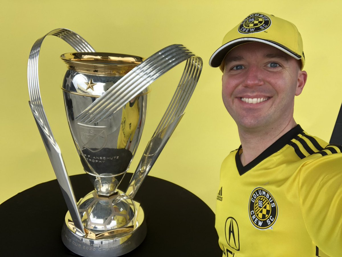 This was cool to go do today. #Crew96  In hindsight I kind of wish @ColumbusCrewSC had both cups out. Certainly enjoyed getting a pic with this one.