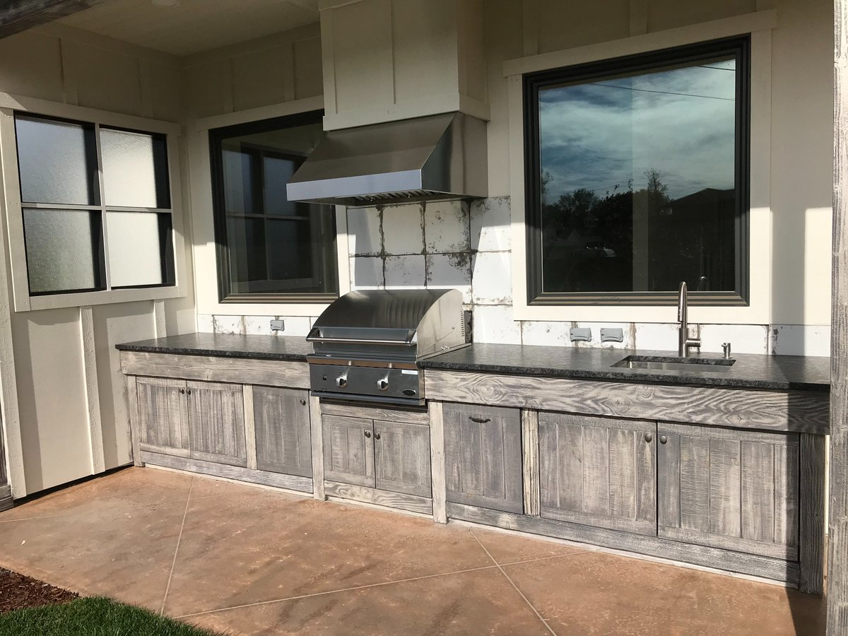Only the best appliances and fixtures for the Hatfield house. Grill: DCS by Fisher & Paykel. Sink: Zuhne. the John Webbccast Episode 23 - John Webb – Final Walkthrough Pt2 – Patio & Outdoor Kitchen  #outdoorkitchen #constructionanddesign #design  #construction  #appliances