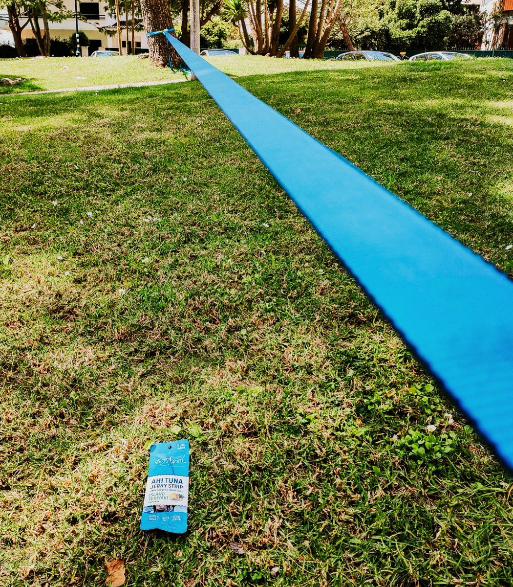 Warm winter weekend vibes and local adventures with jerky and a slack line, what else is needed? ☀️   #playathome #snack #slackline #jerky