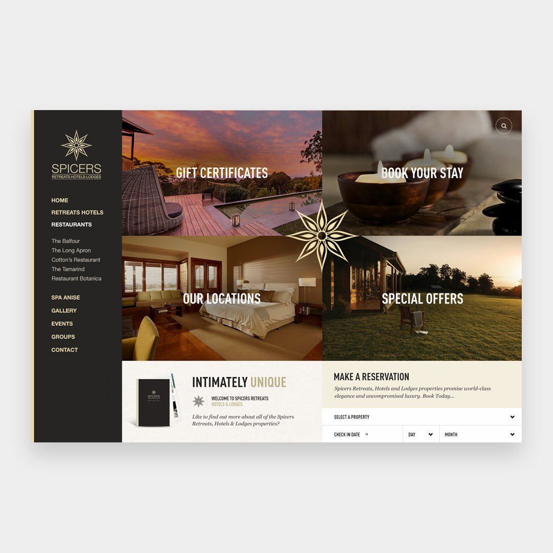 Spicers Retreat Website. By Fred Nerby @nerbydesign -      - #design#userinterface#ui #ux #website#web#site#webdesign#digital#webdesignnerby