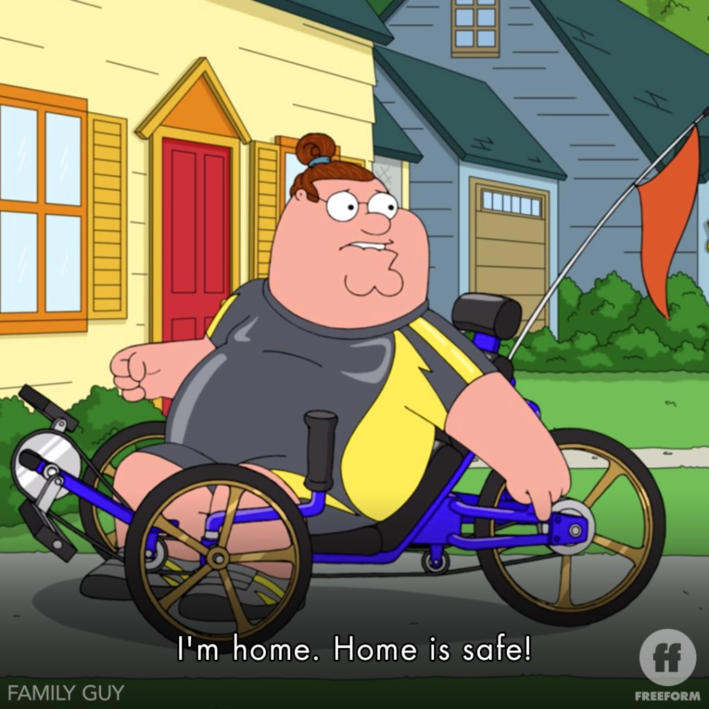 Stay where it's safe ______ Watch Family Guy Friday starting at 4p 3c on Freeform