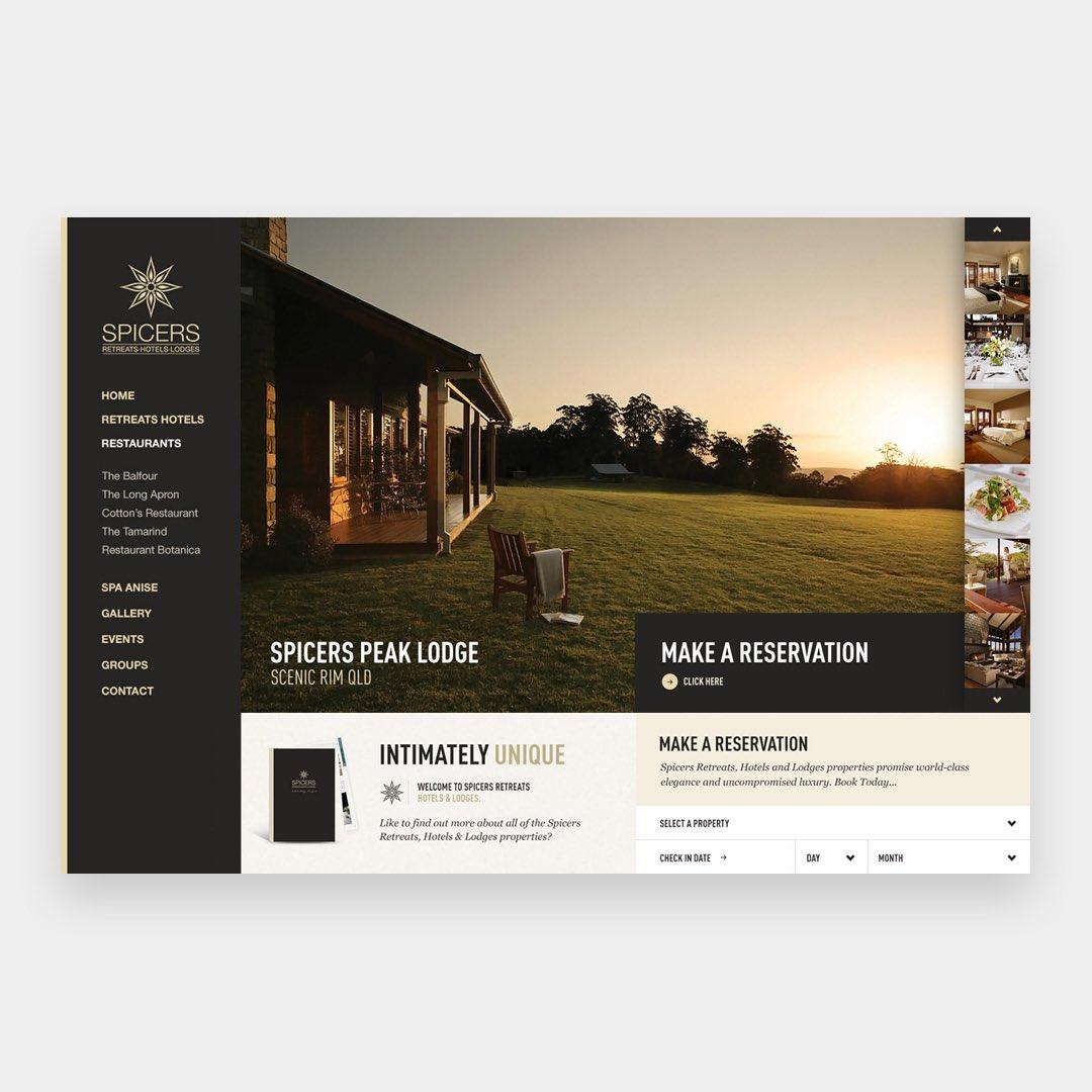 Spicers Retreat Website. By Fred Nerby @nerbydesign -      - #design#userinterface#ui #ux #website#web#site#webdesign#digital#webdesign