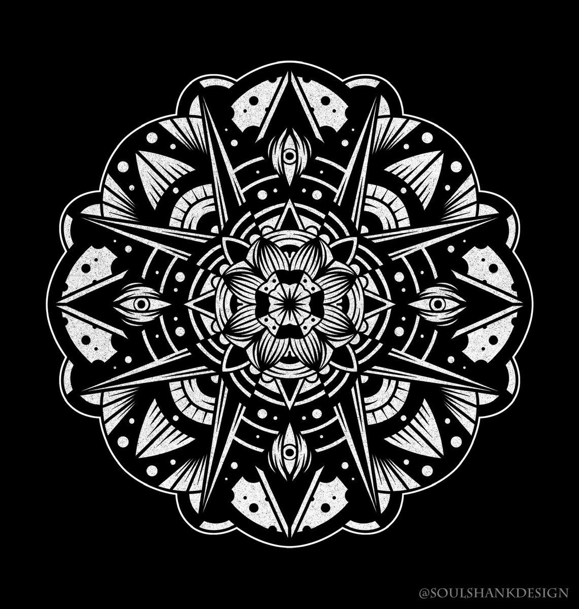 Been drawing mandalas fun and free flowing recently, do you like them? 😴  . . . #illustration #design #graphic #fun #mandala #mandalas #geometry #pattern #patterns #dotwork #linework #blackwork #art #artwork #digitalart #digitalillustration #procreate #photoshop #bold