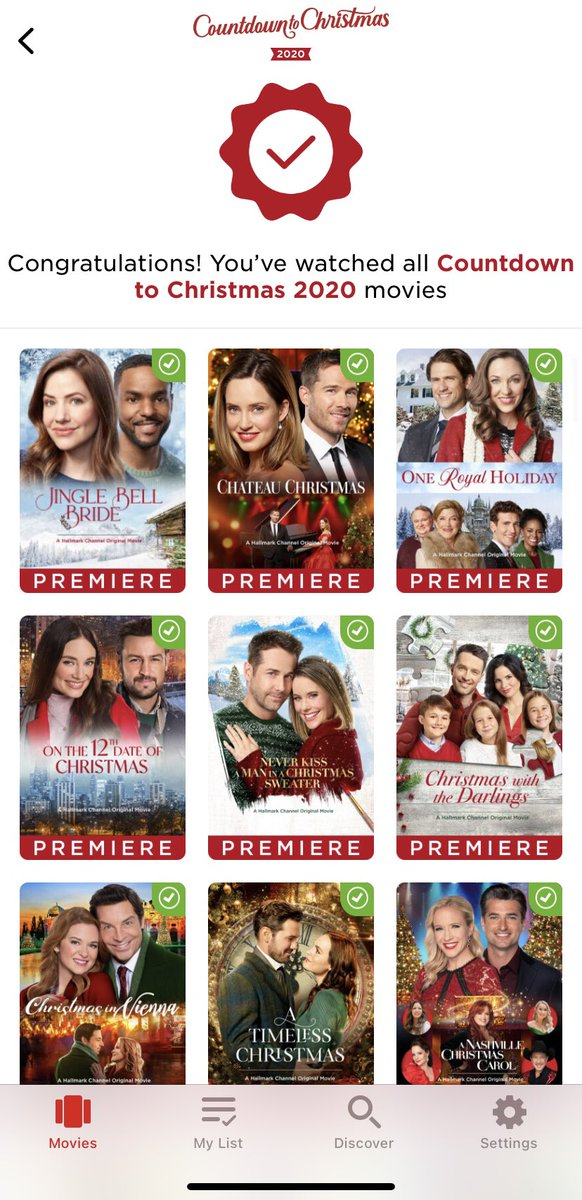 This past year has been a doozy for educators everywhere! Thankful for @hallmarkchannel for giving me a way to find some me time. 105/105 🎉💪 😂 #hallmarkchannel #hallmarkmovies #countdowntochristmas #selfcare #teacherlife