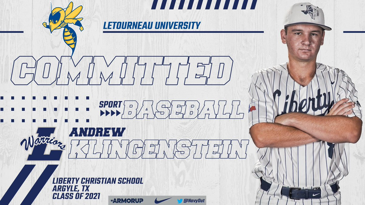 Congratulations to Andrew Klingenstein for Committing to @LETU_Baseball!!  #FORHIM | #ARMORUP