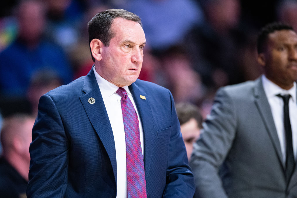 """Coach K reacted to Duke AD Kevin White's retirement.  """"I have absolutely loved working with Kevin the past 13 years. He's made Duke Basketball and me better."""""""