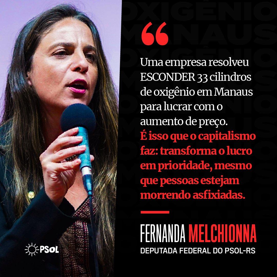 Replying to @psol50: O capitalismo é assim: o lucro está constantemente acima da vida. @fernandapsol