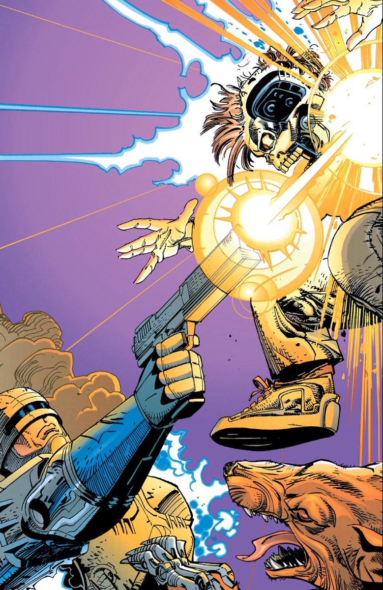 RT @VGAOfficialArt: RoboCop vs. The Terminator (comic, 1992) Artist: Walt Simonson (@WalterSimonson) https://t.co/PxBbR6t4fH