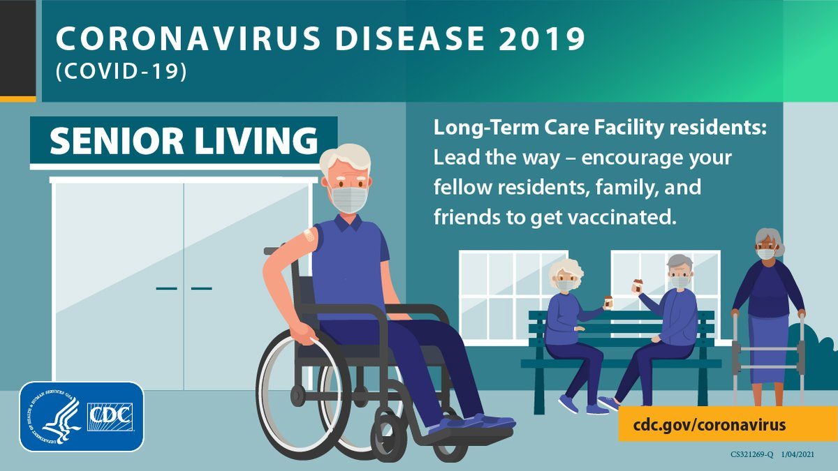 People who live in #LongTermCare facilities should be among the first to receive a #COVID19 vaccine.  People living and working in these settings are at increased risk of severe illness. More: .