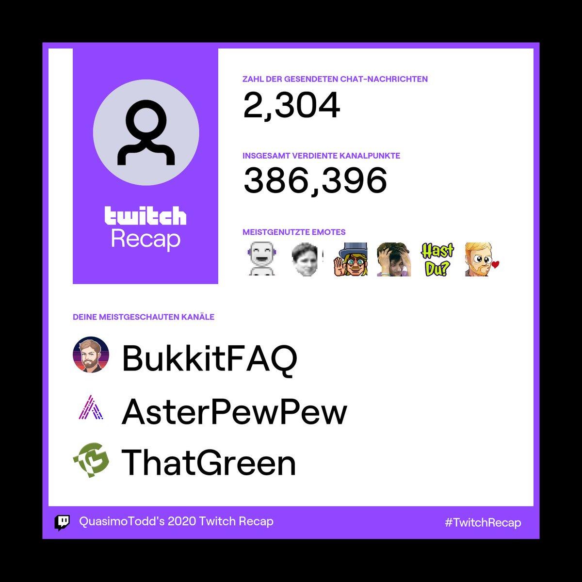 Dahingehend war das Jahr doch nicht so schlimm. @BukkitFAQ @aster_pew @green_lul #TwitchRecap