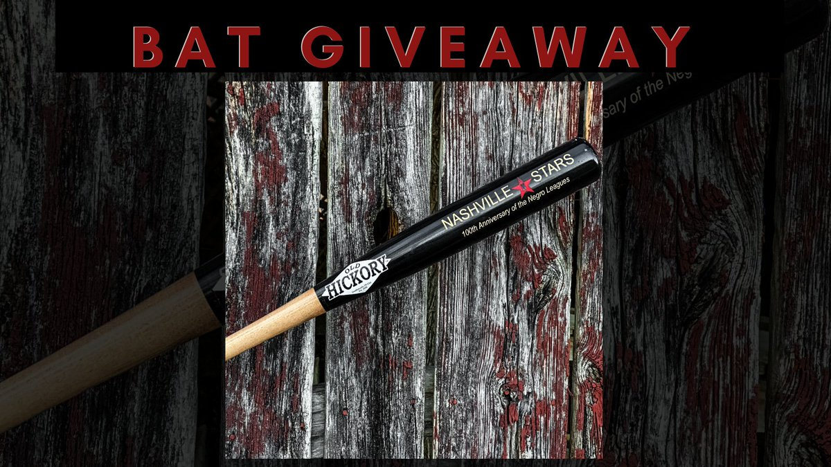 GIVEAWAY – To say thanks for being there with us from the beginning, we want to give a lucky winner a LIMITED-EDITION @NashvilleStars baseball bat! To enter, all you have to do is LIKE this post, but you can RT for a bonus entry.  *Must be following @nashvillestars to be eligible