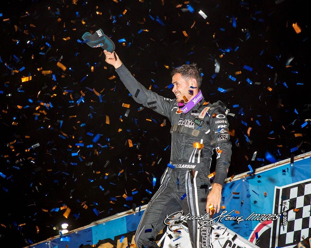 """Kyle Larson is North American 410 Sprint Car Poll """"Driver of the Year"""" for First Time; Also Named 2020 Recipient of Thomas J Schmeh Award for Outstanding Contribution to the Sport!"""