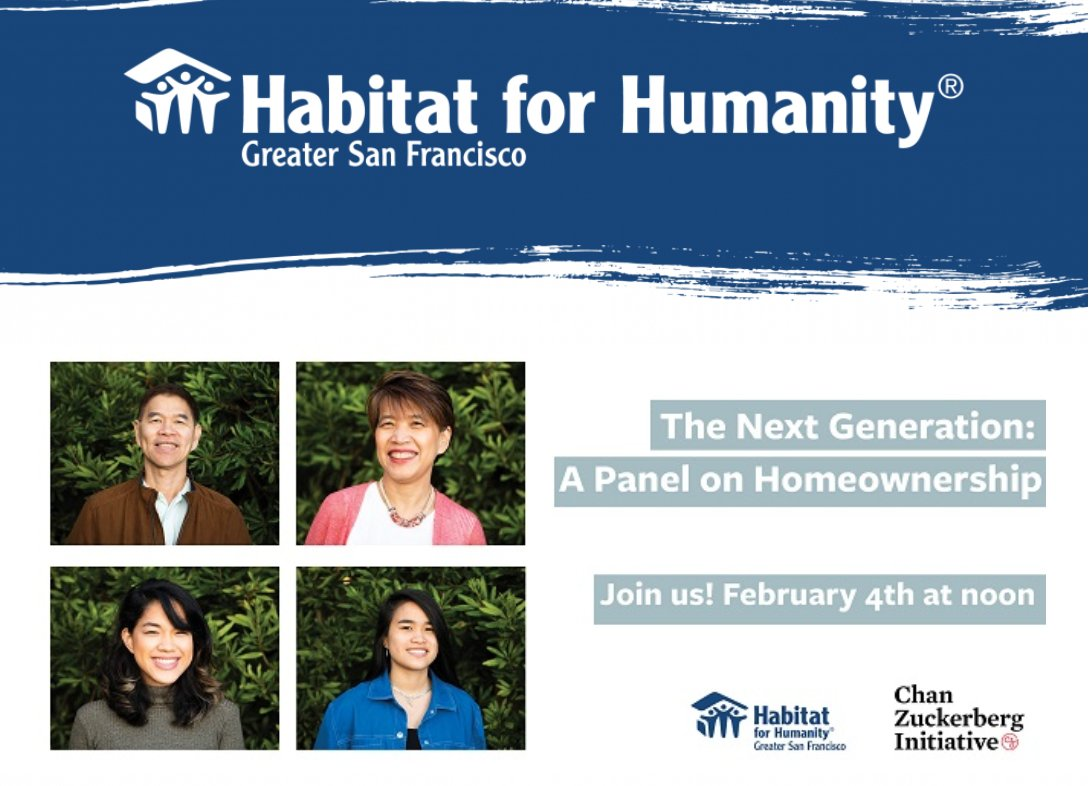 In partnership with @czi , we're thrilled to invite you to The Next Generation: A Panel Discussion on the Power of Affordable Homeownership on 2/4/21, 12pm-1pm.  Learn more about our virtual panelists & sign up today: https://t.co/r9UMchvEYp https://t.co/bjdlxIhY0f