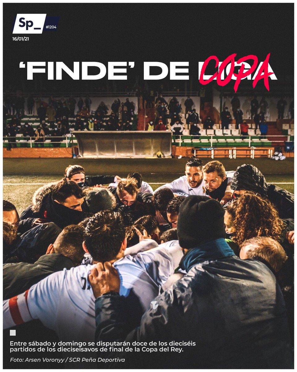 Entre sábado y domingo se disputarán doce de los dieciséis partidos de los dieciseisavos de final de la Copa del Rey.  #PortadaSp_ 🗞