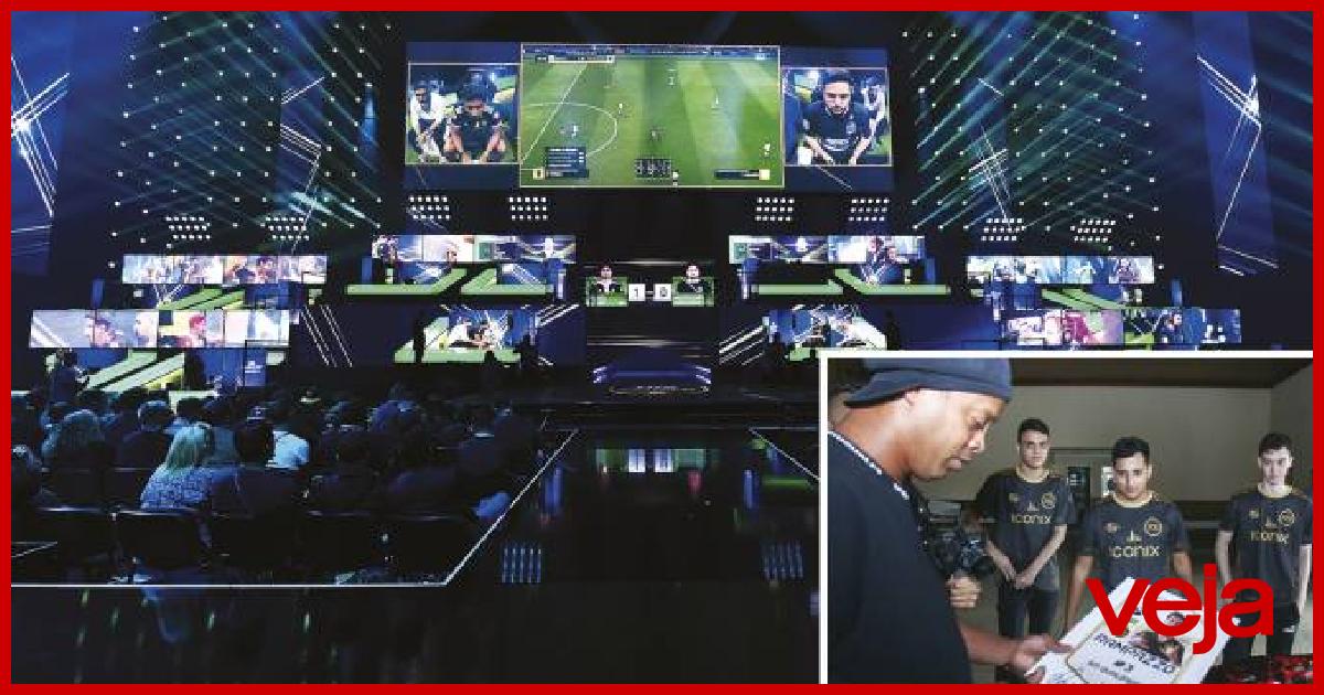 O e-futebol, modalidade virtual do esporte, atrai cada vez mais praticantes.