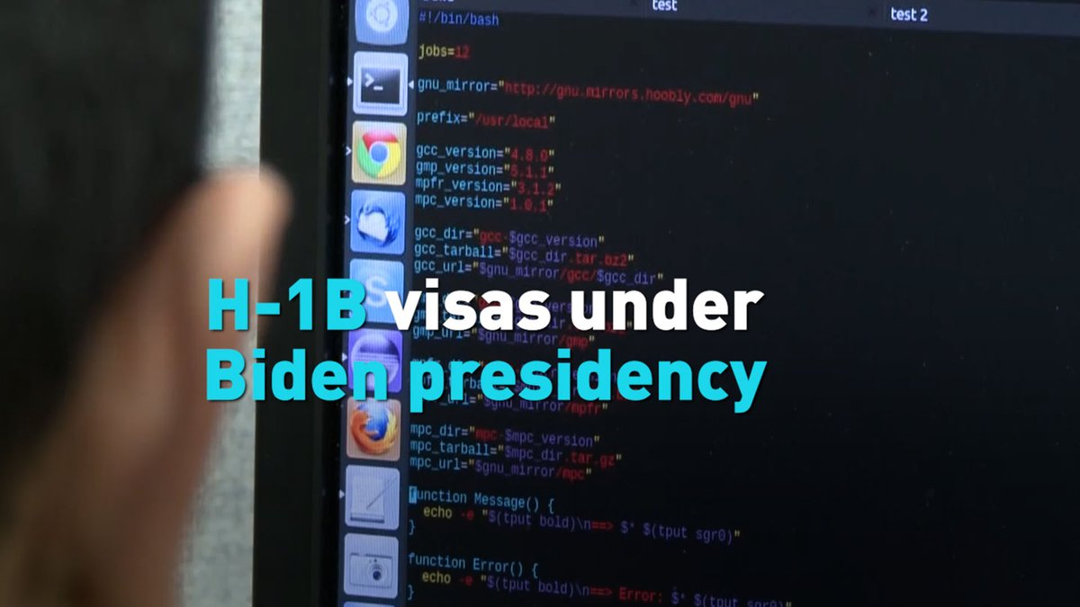 As the Biden administration enters office, many people looking for employment in the U.S. are paying attention to how it will treat H-1B work visas. CGTN's Mark Niu reports.