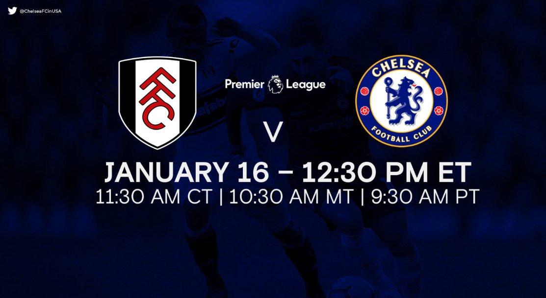 West London Derby time. #FULCHE   📅: Saturday, January 16 ⏰: 12:30 PM (ET)  📍: Craven Cottage 📺: NBC   FULL PREVIEW 📰👉: