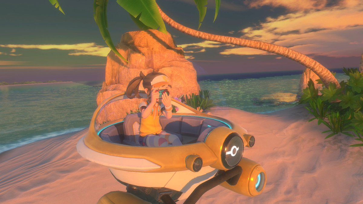 In #NewPokemonSnap you'll take photos while floating safely in the NEO-ONE, your trusty pod. Once you arrive at a research site it'll steer you where you need to go on its own so you can focus on getting the perfect Pokémon pictures!