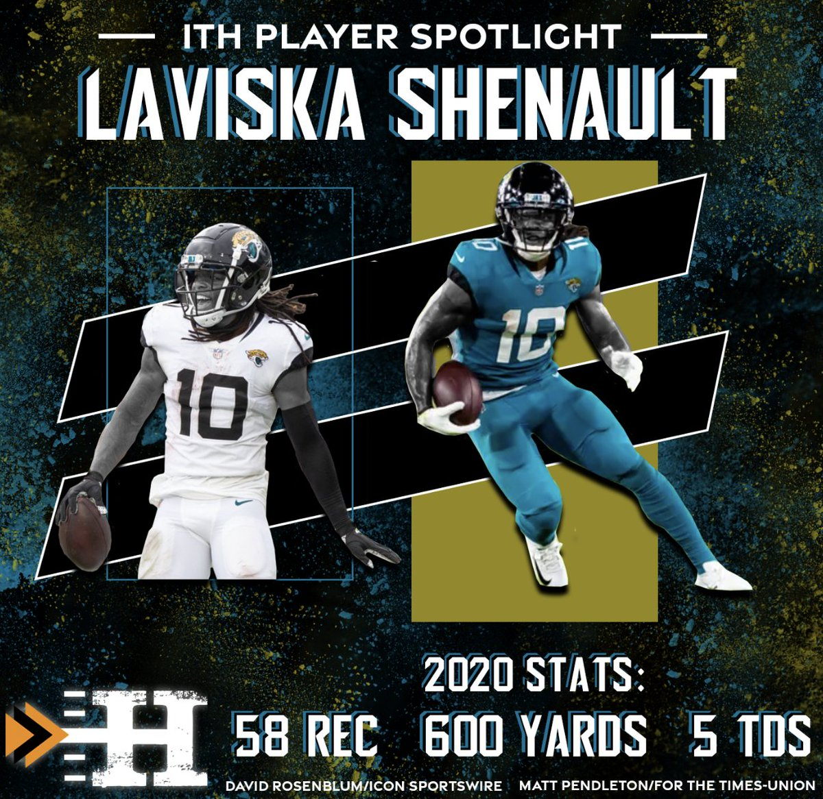 This weeks ITH Offensive Player of the Week is...  Laviska Shenault! The Jags found a GEM in Shenault!  Find our ITH Exclusive Player Interview with Laviska @hunchoviska on our site  OR wherever you listen to your podcasts! #DUUUVAL #NFL