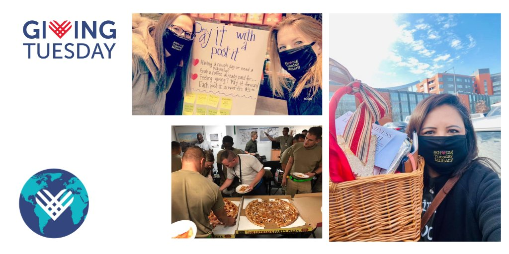 .@GivingTuesMil activated their global community in an effort to inspire one million acts of kindness. They helped deliver more than 25,000 holiday cards for veterans in hospice care, sent pizza to the Middle East for deployed service members, and so much more
