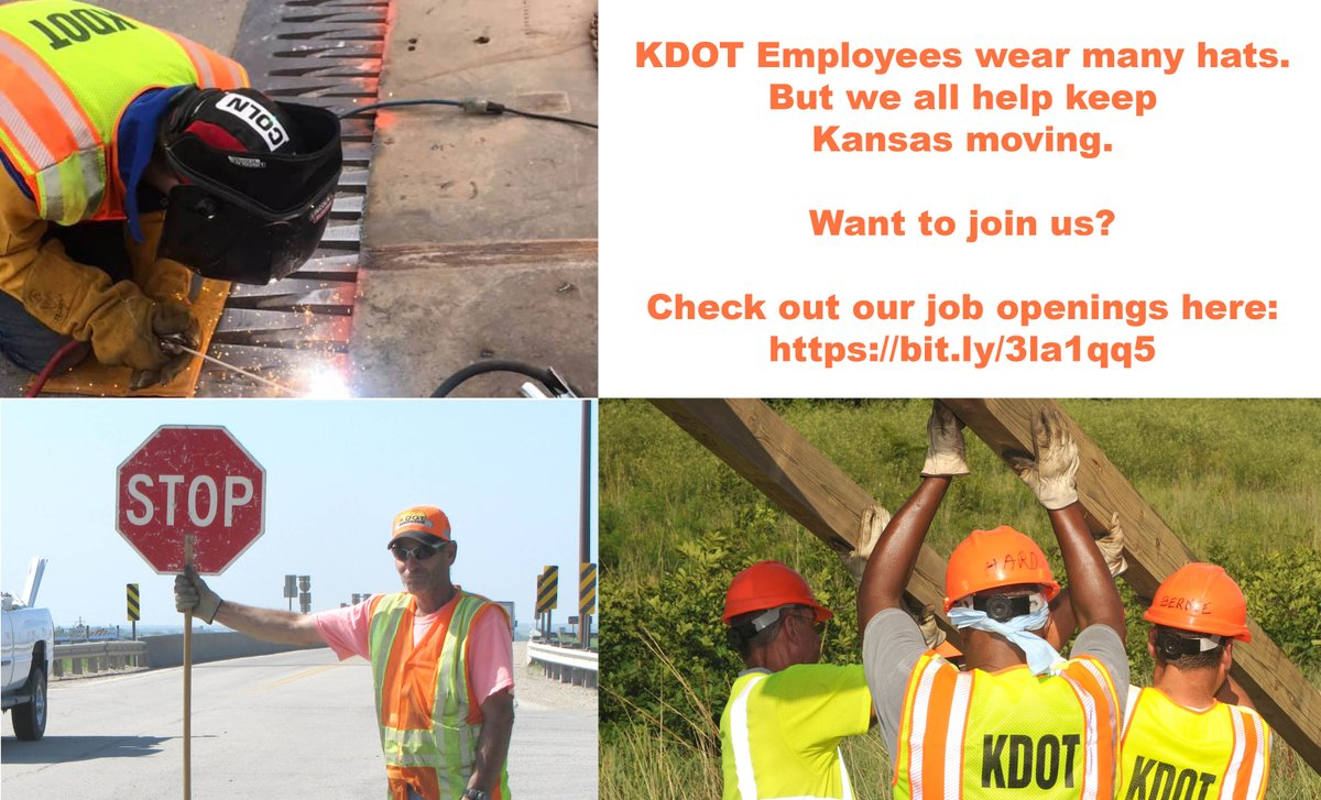 Today is #NationalHatDay and hang on to your hats because KDOT has job openings! We all do our part to help keep Kansas moving. So if you want to make a difference and work to make our state a better place, join us! Find job openings here: