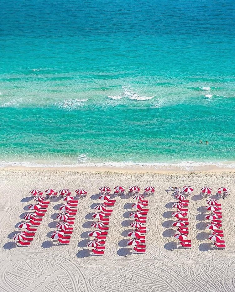 Faena's #beach in #MiamiBeach by the talented @RemotePilotMike