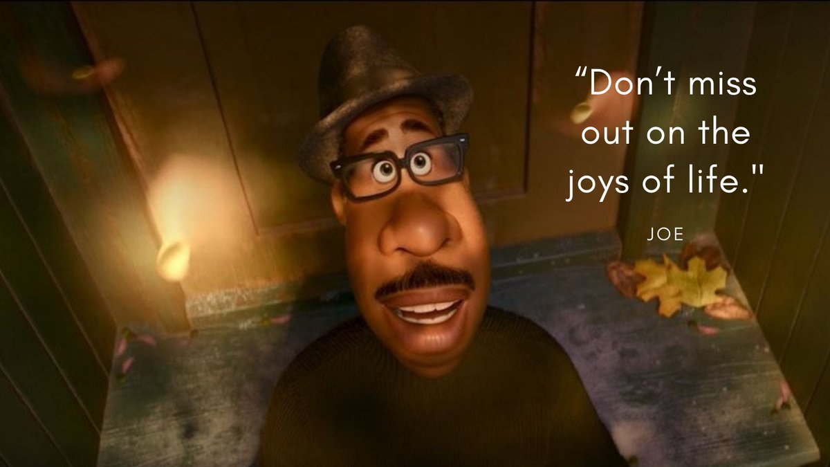 Beautiful new @Pixar film 'Soul' encourages us to make the most of the small joys in life. Here are some of our favourite quotes about life and death from the movie:  #PixarSoul
