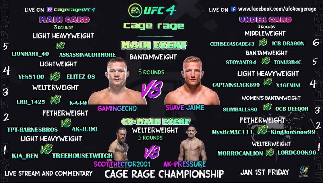 We are LIVE 🟢    @Suave_Jamie @ESFLGaming @esports_fight @AGROFIGHTING @RuthlessOmni @Gamingech01   #UFC4 #Live #Stream #competitive  #Championship #Friday #MMA  #FightNight #Twitch #eSports #Stream #eAthlete #EASports #UFC #fightgames #League