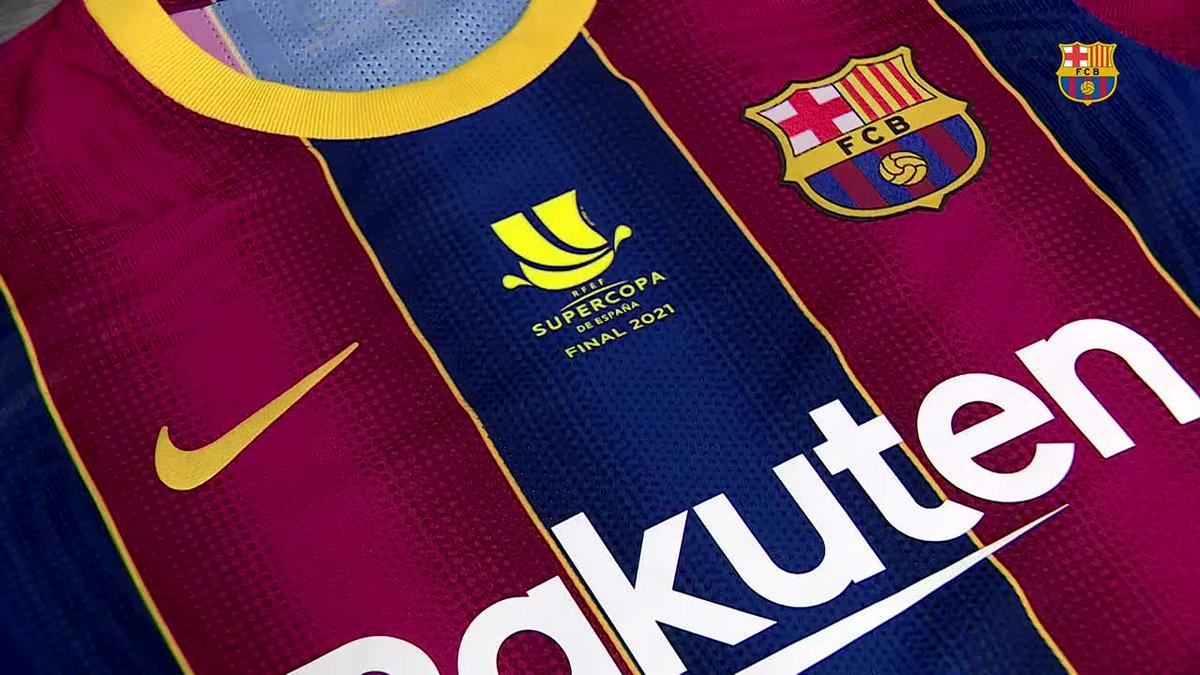Aquesta serà la samarreta de la final de la #SupercopaBarça. Una equipació serigrafiada per a l'ocasió 😍