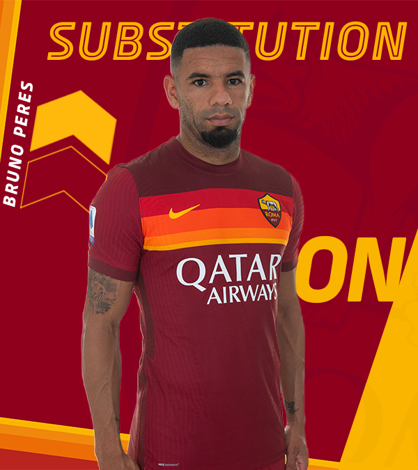 ➡️♻️⬅️  Double switch: Bruno Peres is on for Spinazzola...  #ASRoma #LazioRoma