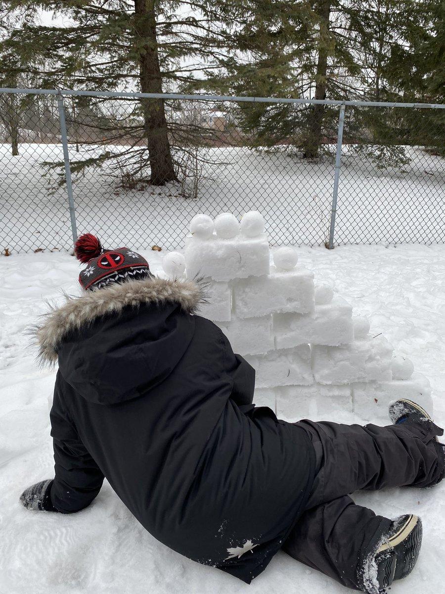 Fun in the snow on this beautiful afternoon #SnowFun #FunWithSnow #FunInTheSnow #WinterFun #Winter #CanadianWinter #Canada #Canadian