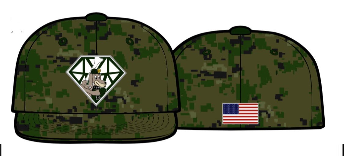 Today is #NationalHatDay & we're giving away a 2021 camouflage @MVDiamondDawgs hat on @Twitter ! All you have to do to enter is ❤️ this tweet and smack that RT button! Bonus points for telling us your favorite baseball player! @USArmy @USNavy @uscoastguard @usairforce @USMARCENT