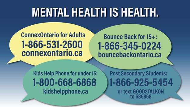This is a challenging time for everyone. If you or someone you know is experiencing a #MentalHealth or addiction challenge, help is available. ontario.ca/page/find-ment…