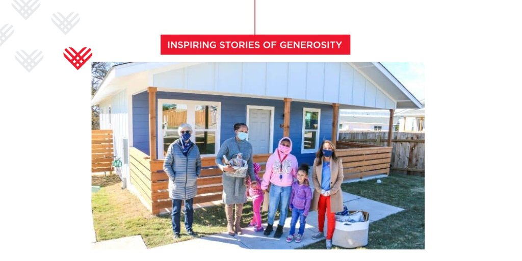 .@realtyaustin and its team of agents, clients, and industry partners sponsored and built a house on #GivingTuesday which they gave via Habitat for Humanity to a family in their community.