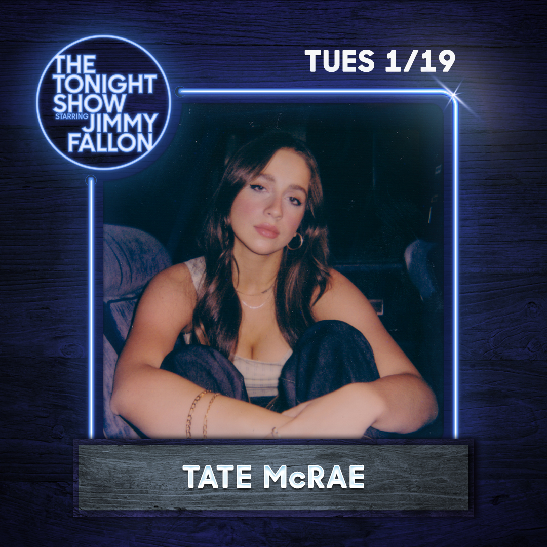 Replying to @tatemcrae: SOOO EXCITED TO ANNOUNCE THAT IMMA BE ON @jimmyfallon ON TUESDAY🤯🤯🤯 TUNE IN