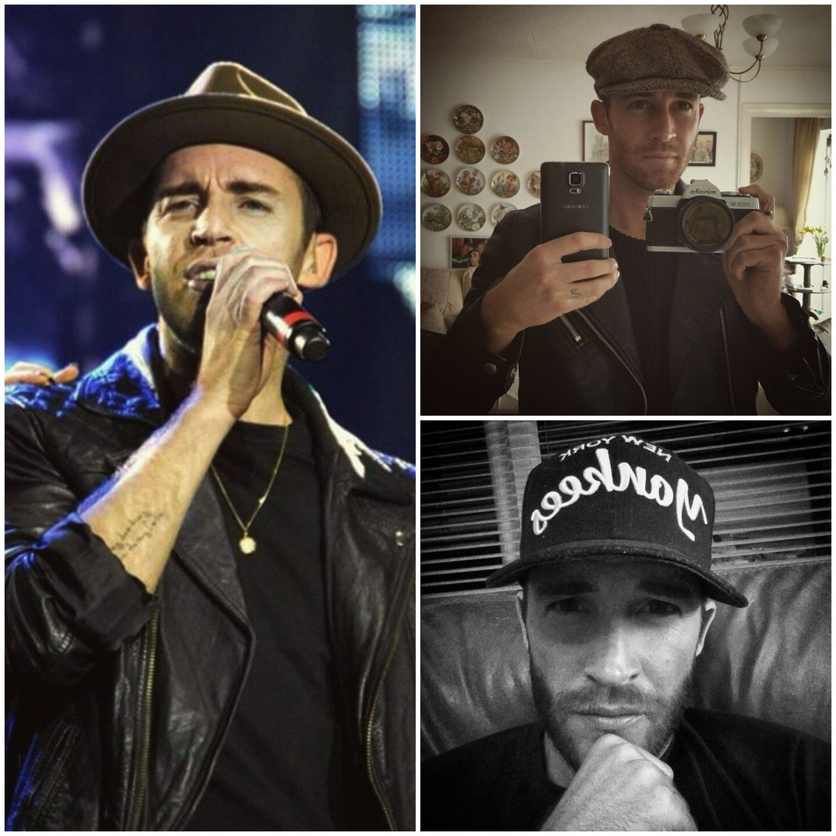 🖤 I'm having a little competition over on instagram.... it's a close call, who will be @the_overtones #NationalHatDay winner @JAYJAMES or @darren_everest 🏆🎩😉 Jay 👇   Darren 👇