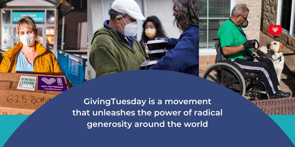 "Together we can change how people view generosity around the🌍, not just as an action to take on birthdays, holiday or on #GivingTuesday, but as a value we all share, where each day is a day rooted in generosity, for giving back ..a day to ask, ""What good will I do today?"""