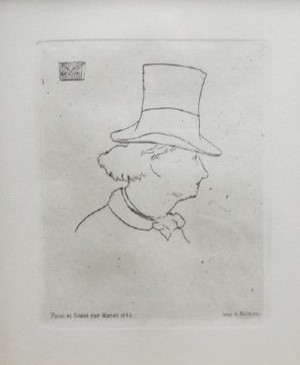 "Hats off to you - you made it through the week! Happy #NationalHatDay 🎩  Edouard Manet, ""Profile of Baudelaire with Hat II (Charles Baudelaire de profile n chapeau II)"" 1869, etching, gift of Robert Vogt, HU92.67 #HUMAfromHome #HofstraumMuseumofArt #Artsathofstra"