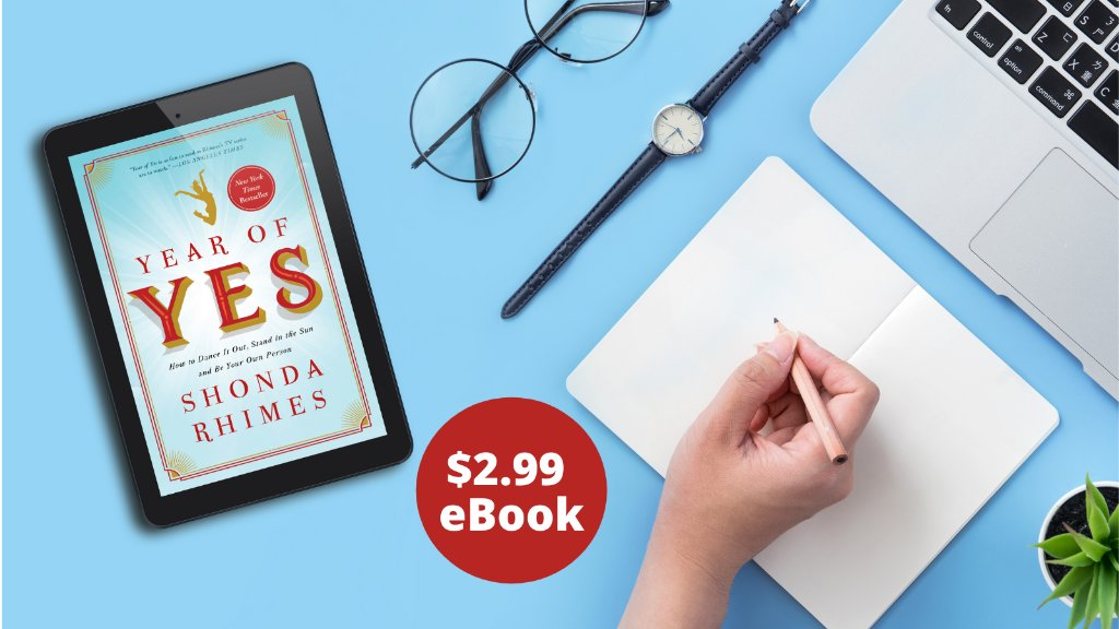 """""""Welcome your new life coach, Shonda Rhimes."""" —@vulture   Start #2021 off strong with producer, author, and creator @shondarhimes's bestselling book #YearOfYes!  For a limited time download the eBook for only $2.99—dive in today! ➡️"""