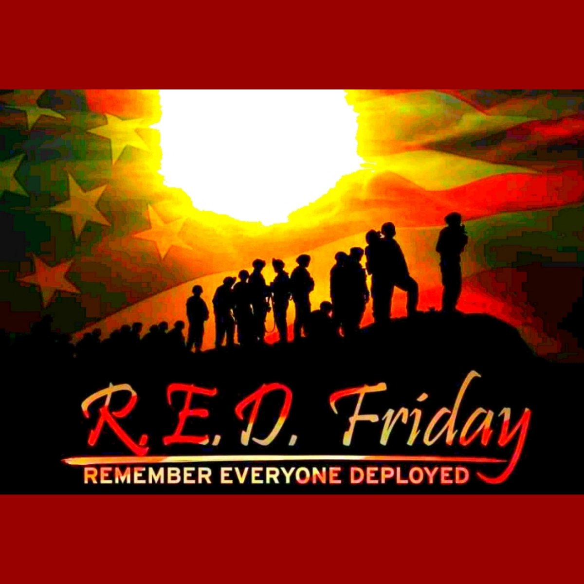 On Fridays we wear RED until they all come home  #REDFriday  #SupportOurTroops