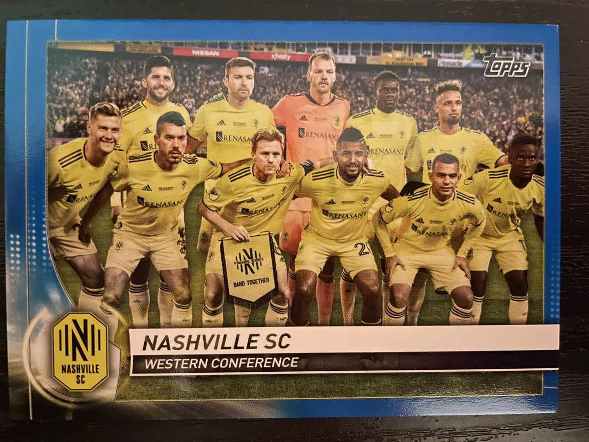 Hey @NashvilleSC I just got this card of the first ever Nashville SC team one of only 99 ever made. Do you guys want a piece of history? If we can get 50 retweets on this I will raffle it off to one of your lucky fans. Must retweet and like to be entered. #MLS #EveryoneN