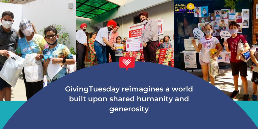 Let's reimagine a world built upon shared humanity and generosity. Join us. #GivingTuesday
