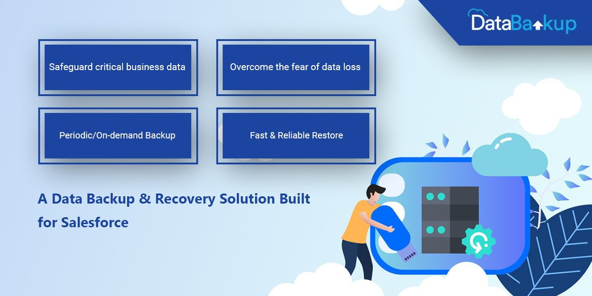 Protect your critical business data in Salesforce with powerful backup & faster reliable recovery. Choose #DataBakup for Salesforce data backup.   #DataBackup #DataManagement #Salesforce #AppExchange