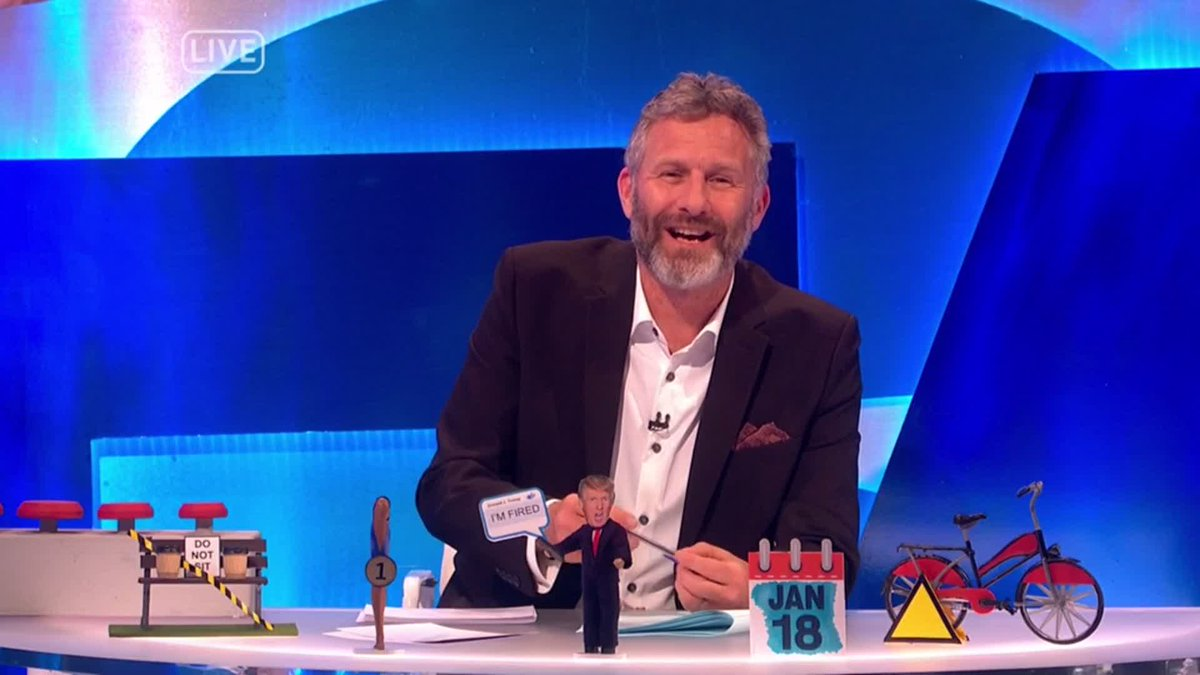 What's the prize for the most impeachments ever? Asking for a friend who's not on Twitter … 👀  #TheLastLeg