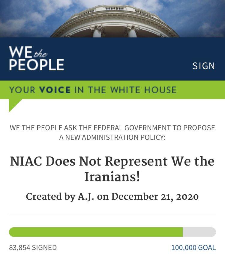 #مهم دوستان عزیز لطفا هر چه سریعتر پتیشن «نایاک نماینده ایرانیان نیست» را امضا کنید تا به ۱۰۰ هزار امضا برسد ، هم اکنون بیش از ۸۳ هزار امضا ثبت شده است ، وارد لینک پایین شوید و امضا کنید کمتر از یک دقیقه وقت نمی برد ، با تشکر🙏🏻