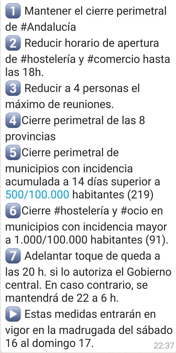 Pues ya tenemos las medidas de la @AndaluciaJunta para el #COVIDー19.  El dar carta blanca a los ciudadanos desde el #BlackFriday hasta #Reyes nos va a pasar una cara factura a todos... y no lo digo por las medidas que se toman ahora, sino por las consecuencias sanitarias. 😔