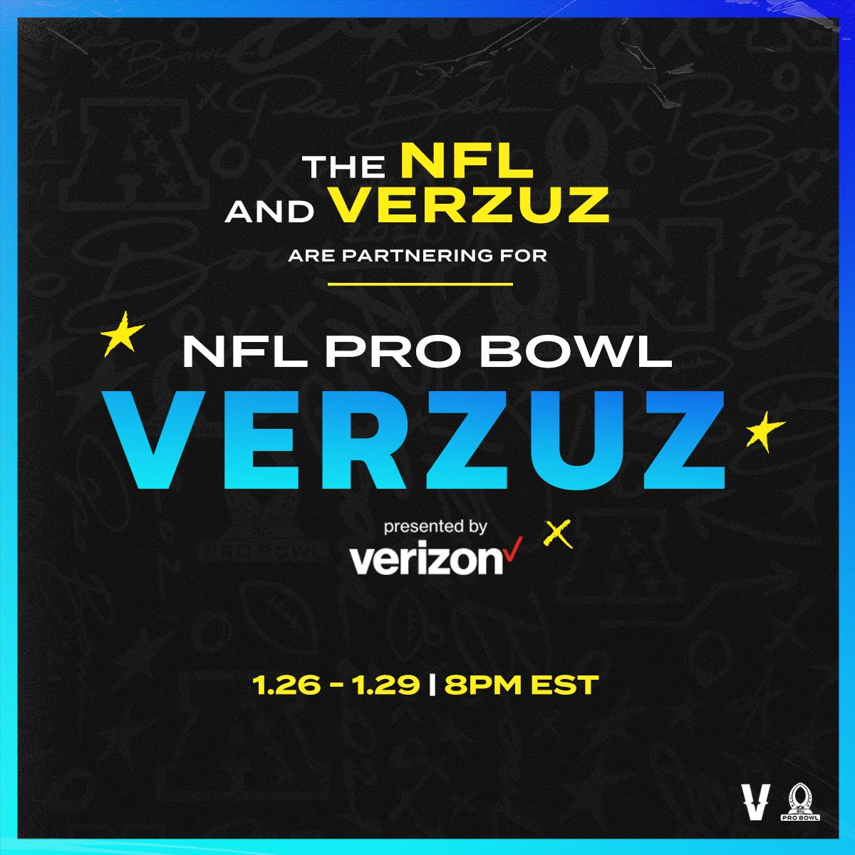 2021 Pro Bowl 🤝 @verzuzonline  THE PAPERWORK IS IN!!! Watch some of today's #NFL stars go head to head showcasing their position highlights every night (Jan. 26-29)!! The lineup and guests are going to be CRAZY!!! 🏈📺  Which Pro Bowl players do you want to see? #ProBowlVERZUZ